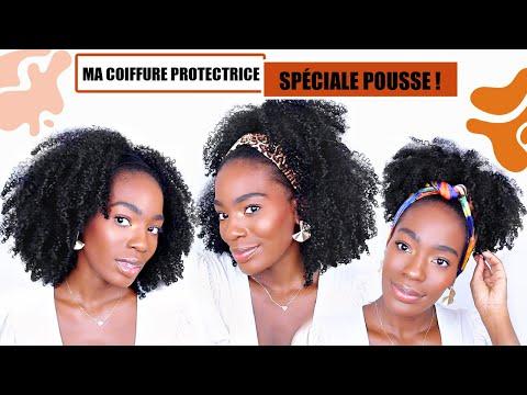 MA COIFFURE PROTECTRICE SPÉCIALE POUSSE ! Cheveux bouclés, frisés, crépus