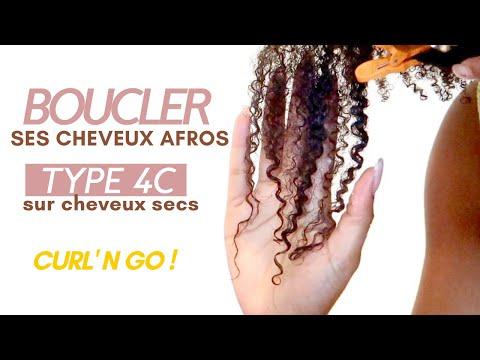 Boucler ses cheveux afros crépus type 4C sur cheveux sec. Curl'N'Go !