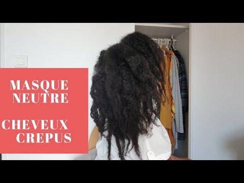 Base masque capillaire fait maison pour cheveux crépus