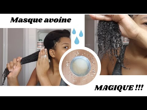 Episode 3 : masque avoine (QUAKER) une révélation pour les cheveux crépus (volume, pousse, démélant)