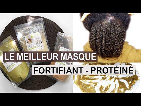 Comment FORTIFIER et faire POUSSER les cheveux Afros | Masque aux Poudres Indiennes sur cheveux Afro