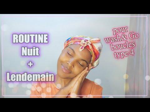 Routine du Soir et du Lendemain Matin pour Wash and Go sur cheveux naturels crépus