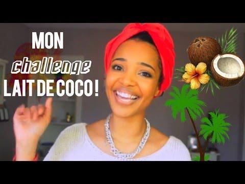 La cure lait de coco Avant/Apres cheveux crepus,boucles,frises