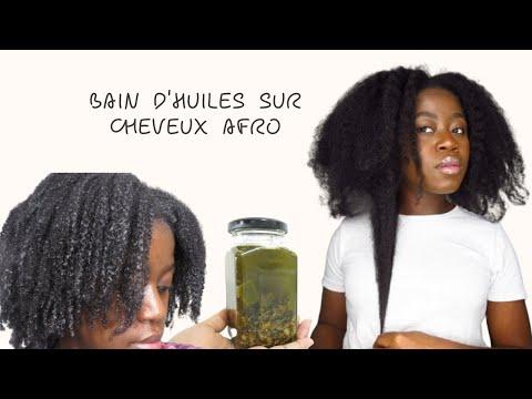 MEILLEUR BAIN D'HUILES POUR SUPER POUSSE DE CHEVEUX 😱AFRO CRÉPUS FRISÉS BOUCLÉS | Hot Oil Treatment