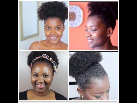 Tuto coiffure : Afro puff sur cheveux crépus