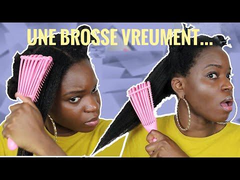EZ DETANGLER : La MEILLEURE BROSSE pour cheveux crépus, bouclés ? : Le test !