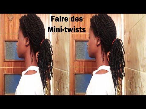 Faire des mini-twists | vanilles sur cheveux crépus | coiffure protectrice