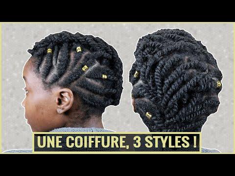 Crête de vanilles 3 en 1 sur cheveux crépus courts