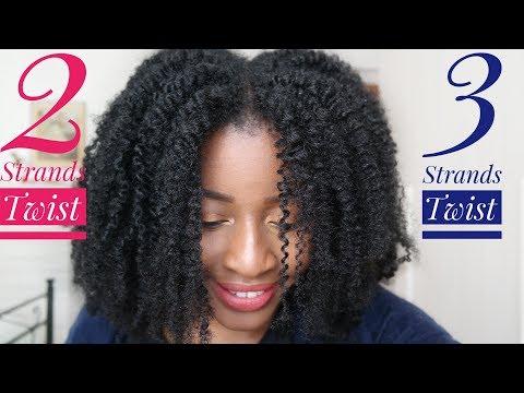Cheveux Crépus: 3 Strand Twist VS Twist Out (vanilles habituelles)