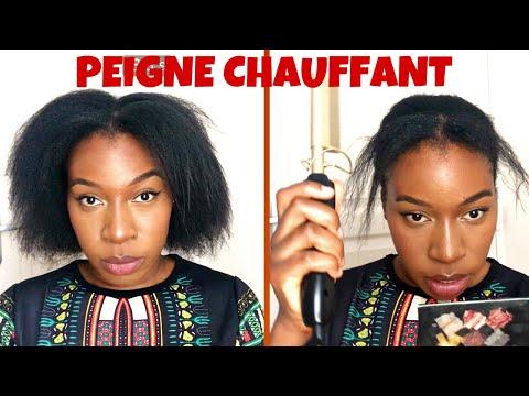 PEIGNE CHAUFFANT SUR CHEVEUX CRÉPUS ?!