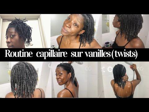 ROUTINE CAPILLAIRE CHEVEUX CRÉPUS : JE RAFRAÎCHIS 🚿MES VANILLES ( TWISTS) 👩🏾🦱