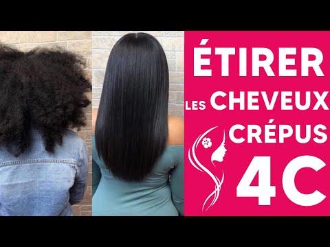 CHEVEUX CRÉPUS 4C – LISSAGE DES CHEVEUX AFRO