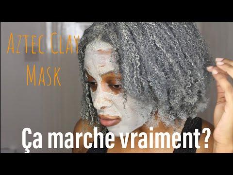 MASQUE D'ARGILE VERTE SUR CHEVEUX CRÉPUS 4C/AZTEC CLAY MASK ON TYPE 4C