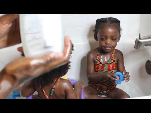 bΘbΘ cheveux naturels _ avantages huile de coco pour bΘbΘs _ afro – amΘricaine de bΘbΘ