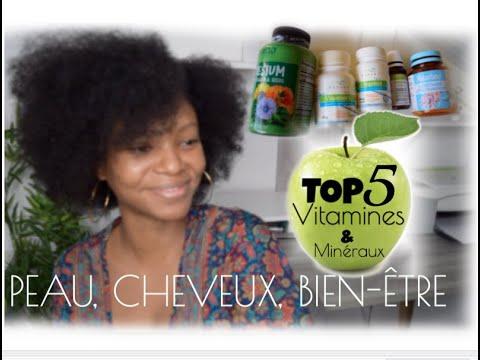 TOP 5 de mes vitamines et minéraux