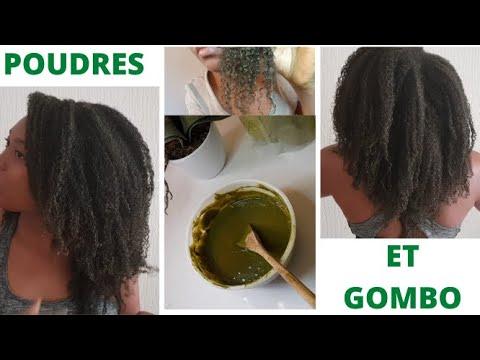 MASQUE: les poudres ayurvédiques associés au gel de gombo (KALALOU) ont transformé mes cheveux 😍