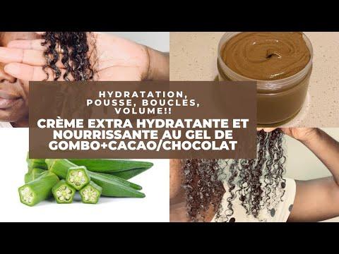 🌿#36. CRÈME EXTRA HYDRATANTE AU GEL DE GOMBO ET DE CHOCOLAT PUR! #antichute #hydratation #cheveusec