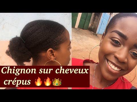 COMMENT RÉALISER UN CHIGNON Avec DU GEL DE GOMBO || sur cheveux naturel 🙀🙀