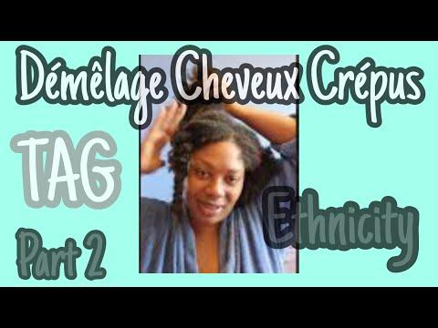 Démêler les cheveux crépus, mes cheveux passent du court au long (Tag Ethnicity Partie 2)