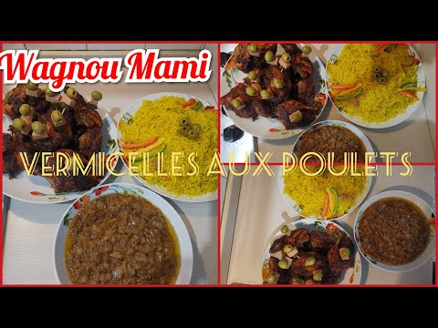 Vermicelle au poulet Senegal|Cheveux d'ange|Vermicelle à la vapeur|sous titré en français