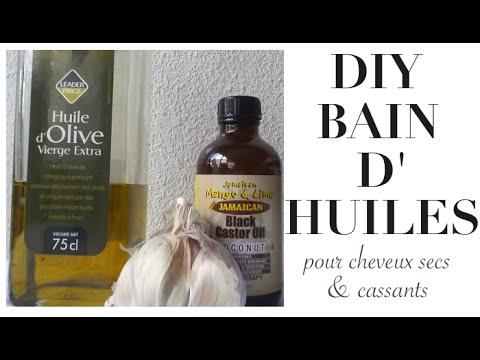 Bain d'huile pour cheveux crépus DIY (huile de ricin et huile d'olive pour cheveux secs et cassants)