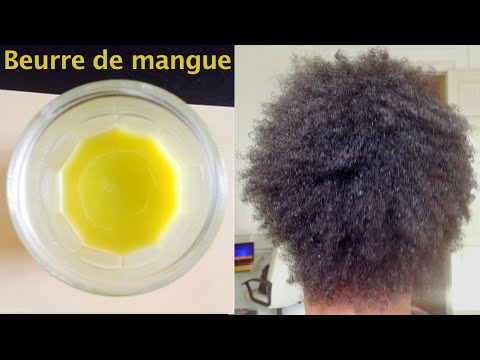 Beurre de mangue et olive maison cheveux crépus, terne 💚 défini les boucles, mango butter