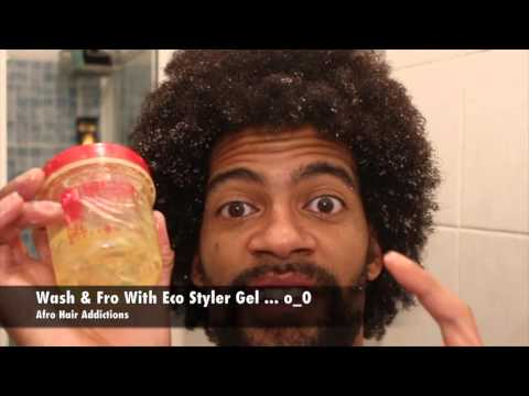 My Afro Vs Eco styler Gel Argan   wash and fro