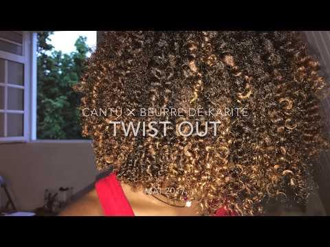 Twist Out sur cheveux Crépus- Cantu Argan Oil ✕ Karité