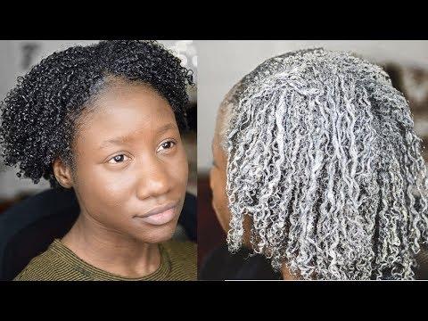 Définir les boucles des cheveux crépus Ft. Bentonite clay (argile verte) l Freiheit Glow
