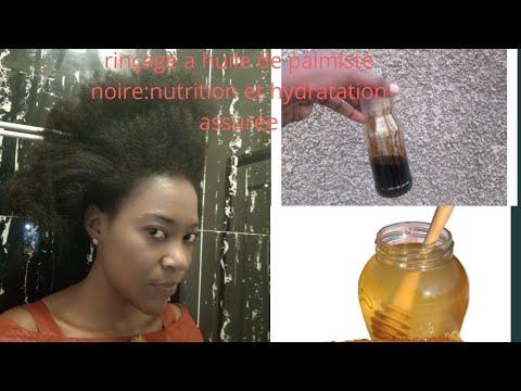 Méthode du rinçage a l'huile de palmiste noire : boisson des cheveux secs🤗