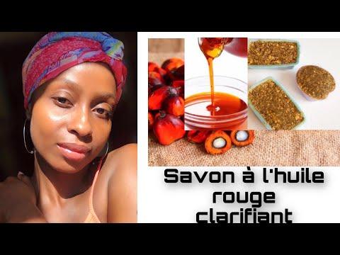 💝MELANGE de savon à l'Huile de PALME rouge, CLARIFIANT & GOMMANT pour une peau NETTE…