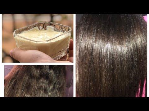 Mayonnaise capillaire pour cheveux très abîmé / اروع ماسك لشعر مايونيز لشعر الجاف و المتقصف و التالف