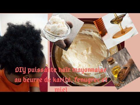 DIY puissante haïr mayonnaise pour des cheveux longs et forts ( traitement protéine)