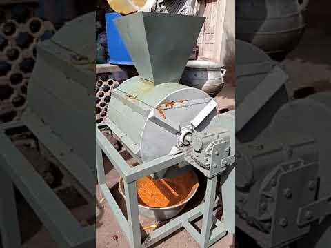 Afrique, Togo, machine à extraire l'huile rouge