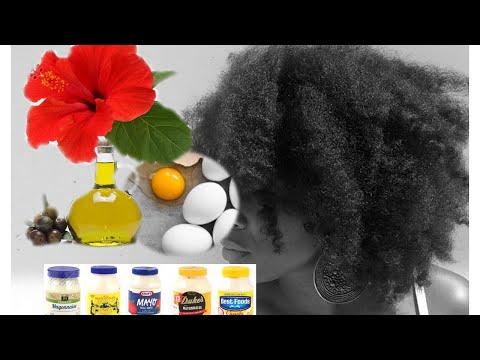 Traitement pour cheveux: mayonnaise et œufs  Tretman pou cheve: ze ak mayonèz