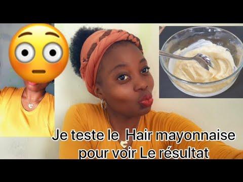 Je teste le masque à la mayonnaise sur mes cheveux pour voir le résultat