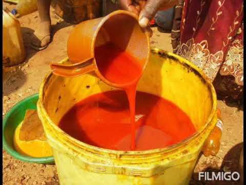 Voici le miracle pour éclairci la peau avec l'huile de palme rouge .