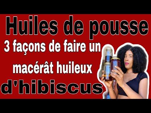 CHEVEUX PLUS LONGS ET EN SANTÉ AVEC L'HUILE D'HIBISCUS