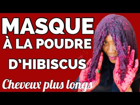 MASQUE À LA POUDRE D'HIBISCUS POUR LES CHEVEUX PLUS LONGS ET VOLUMINEUX/BISSAP