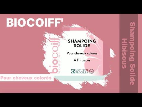 Shampoing SOLIDE bio pour cheveux COLORÉS (Hibiscus)