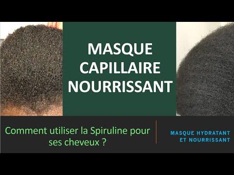 Masque capillaire à base de Spiruline
