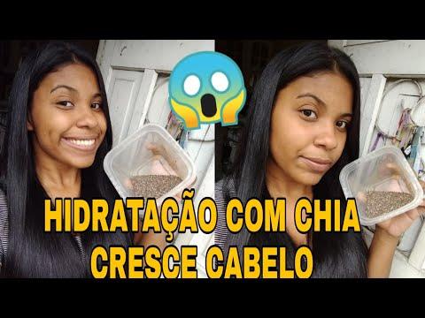 HIDRATAÇÃO COM CHIA CRESCE CABELO !!!