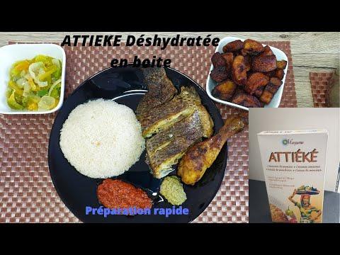 Attiéké déshydraté en boîte/préparation Atcheké
