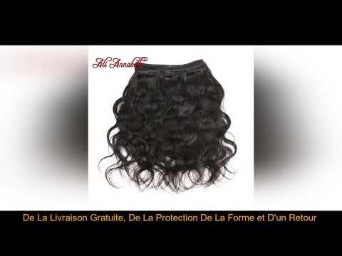❤️$37.59 ALI ANNABELLE cheveux péruvienne vague de corps cheveux humains paquets 1/3/4 pièces coule