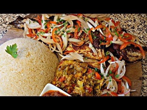 Poisson braisé a l ivoirienne , Attieke Poisson braisé de Cote d'Ivoire 🇨🇮 Cuisine ivoirienne