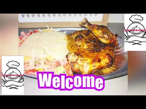 attiéké poulet braisé, braised chicken attiéké