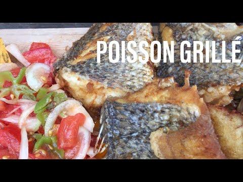 Poisson grillé (sosso) attiéké comme au pays 🇨🇮🌍🇨🇮🌍