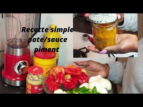 recette rapide pate de piment./sauce piment attieke